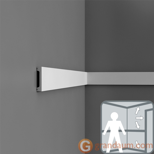 Напольный плинтус с гладким профилем Orac Decor DX157