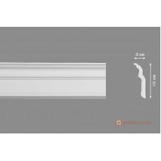 Потолочный плинтус с гладким профилем, багет Homestar D-120 45*115ММ