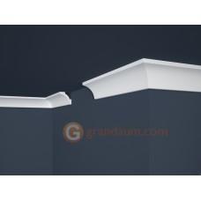 Потолочный плинтус с гладким профилем, багет Marbet E12