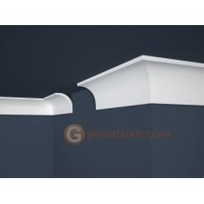 Потолочный плинтус с гладким профилем, багет Marbet E13