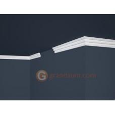 Потолочный плинтус с гладким профилем, багет Marbet E17