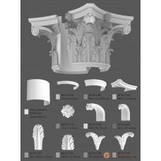 Базы и капители Modus decor КЛ 017.02